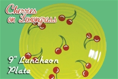 Fiesta Cherries on Lemongrass 9 in luncheon plate