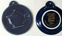 Cobalt Embossed Teapot Ornament
