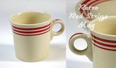 Fiesta Red Stripe Mugs