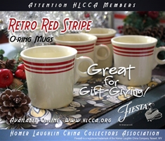 Set of 4 Fiesta Red Stripe Mugs