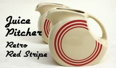 Retro Red Stripe Juice Pitcher
