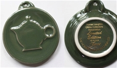 Sage Embossed Teapot Ornament