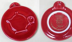 Scarlet Embossed Teapot Ornament