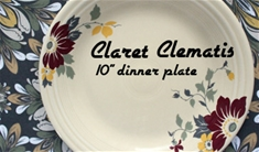 Clematis 10 inch Dinner Plate