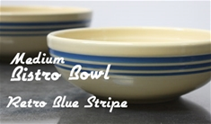 Fiesta retro blue stripe medium bistro bowl