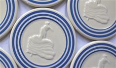 Fiesta Retro Blue Stripe Trivet