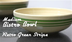 Fiesta retro green stripe medium bistro bowl