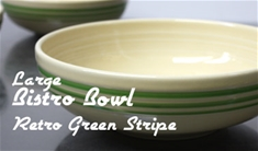 Fiesta retro green stripe large bistro bowl