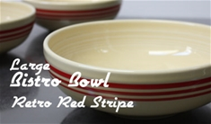 Fiesta retro red stripe large bistro bowl