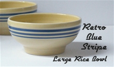 Fiesta Retro Blue Stripe  Lg 6 inch Rice Bowl