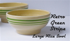 Fiesta Retro Green Stripe Lg 6 inch Rice Bowl