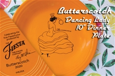 Fiesta Butterscotch Dancing Lady Display Plate LIMIT of 1