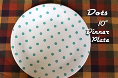 Fiesta White with Turquoise Dots Dinner Plate