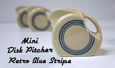 Fiesta Retro Blue Stripe Mini Disk Pitcher