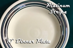 Fiesta Platinum Stripe Dinner Plate