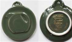 Sage Embossed Disk Pitcher Ornament