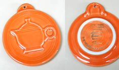 Tangerine Embossed Teapot Ornament