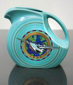 Turquoise 1943 Juice Pitcher