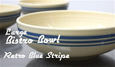 Fiesta retro blue stripe large bistro bowl