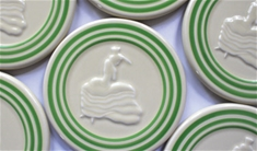 Fiesta Retro Green Stripe Trivet