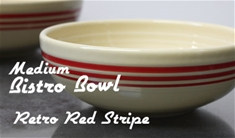 Fiesta retro red stripe medium bistro bowl