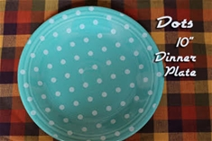 Fiesta Turquoise with White Dots Dinner Plate