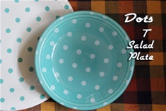 Fiesta Turquoise with White Dots Salad Plate