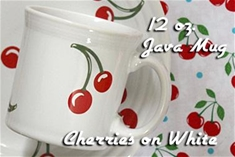 Fiesta Cherries on White Java  Mug