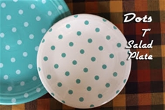 Fiesta White with Turquoise Dots Salad Plate