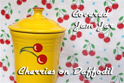Fiesta Cherries on Daffodil Jam Jar