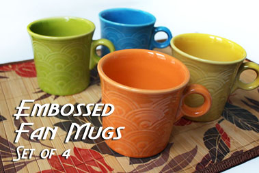 Exclusive Embossed Fan Mugs