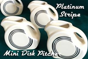 Fiesta Platinum Stripe Mini Disk Pitcher