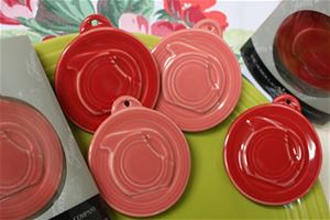 Scarlet Embossed Disk Pitcher Ornament