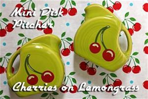 Fiesta Cherries Lemongrass Mini Disk Pitcher