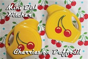 Fiesta Cherries Daffodil Mini Disk Pitcher